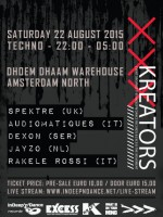KREATORS with Spektre (UK), Audiomatiques (IT), Dexon, Jayzo & Rakele Rossi