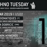 Techno Tuesday 10 Year Anniversary – Audiomatiques (IT) & Lea Dobricic (SRB)