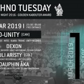 Techno Tuesday 10 Year Anniversary – D-Unity (Can)