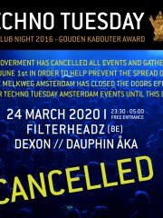 *CANCELLED* Techno Tuesday 11 Years – Filterheadz (BE)