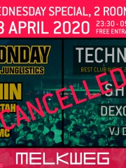 *CANCELLED* Wednesday 8 April Cheeky Monday & Techno Tuesday