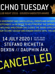 *CANCELLED* Techno Tuesday – Dexon & Residents