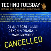 *CANCELLED* Techno Tuesday – YUADA (JP)